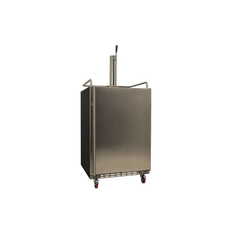 EdgeStar KC7000 24 Inch Wide Kegerator for Full Size Kegs with Electronic Contro