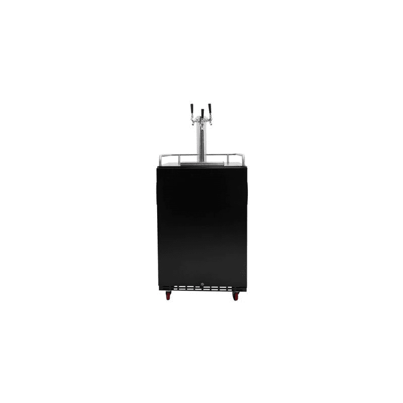 EdgeStar KC7000BLTRIP 24 Inch Wide Triple Tap Kegerator for Full Size Kegs with