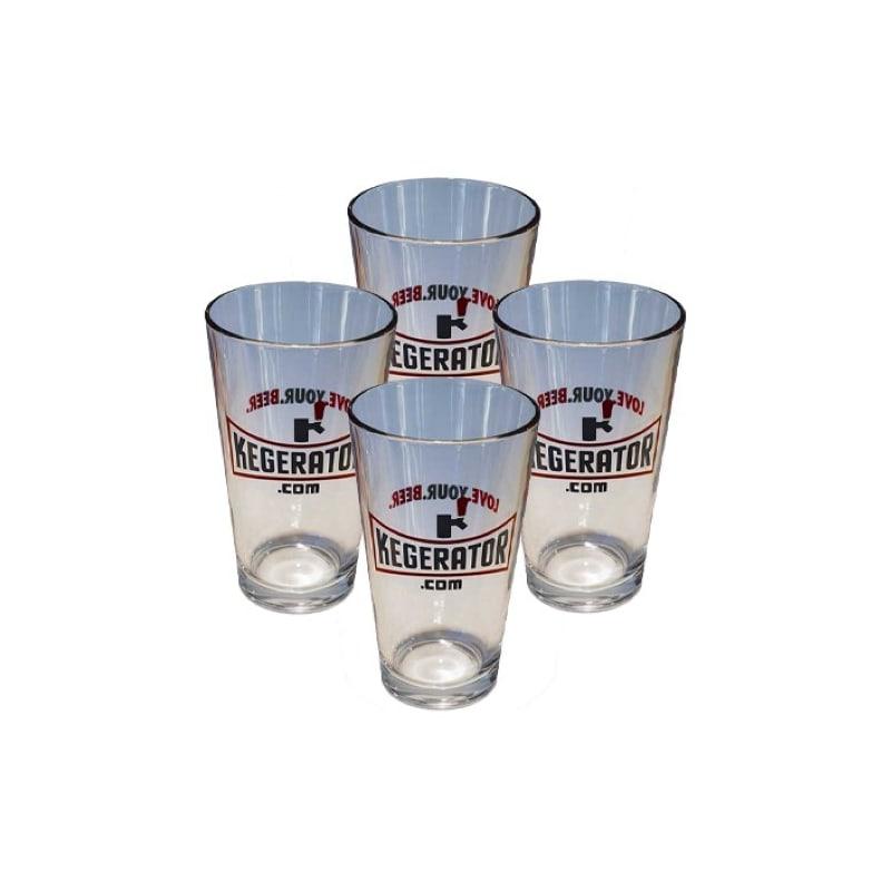 Kegerator.com PINT1SET4 Pint Glasses Set of 4