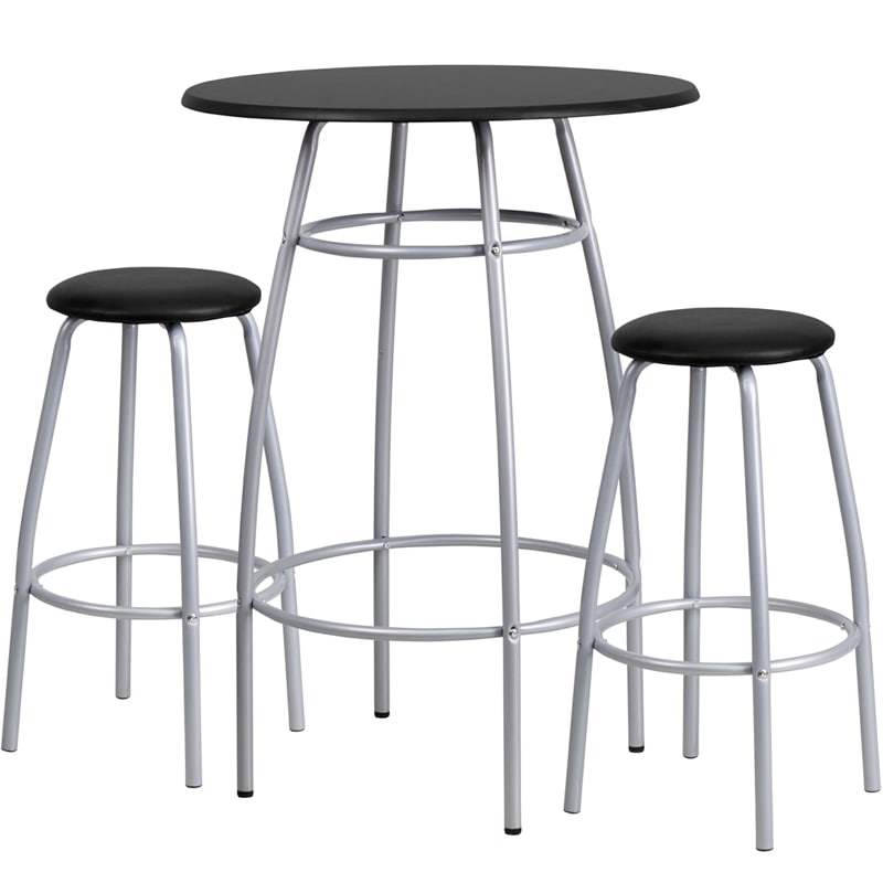 Kegerator Home BTS-00922 Contemporary Bar Height Table and Stool Set